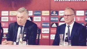 Carlo Ancelotti Karl-Heinz Rummenigge Bayern München 11072016