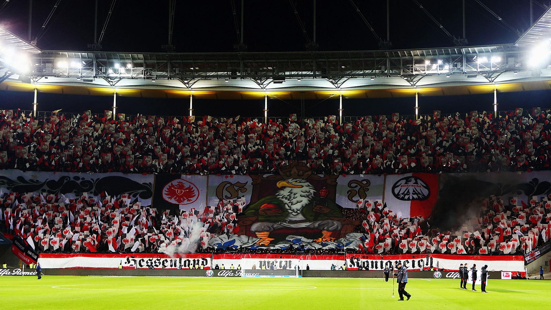 Eintracht Frankfurt Fans Choreo Bundesliga 06122015 Goal Com