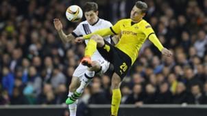 Ben Davies Lukasz Piszczek Tottenham Hotspur Borussia Dortmund Europa League 17032016