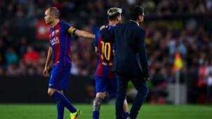 Andres Iniesta Lionel Messi Barcelona LaLiga 21092016