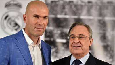 Zinedine Zidane Florentino Perez Real Madrid 01042016
