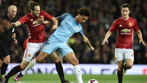 Daley Blind Leroy Sane Manchester United Manchester City EFL Cup 26102016