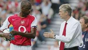 Patrick Vieira Arsene Wenger Arsenal 11092004