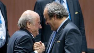 Joseph Blatter, Michel Platini 05292015