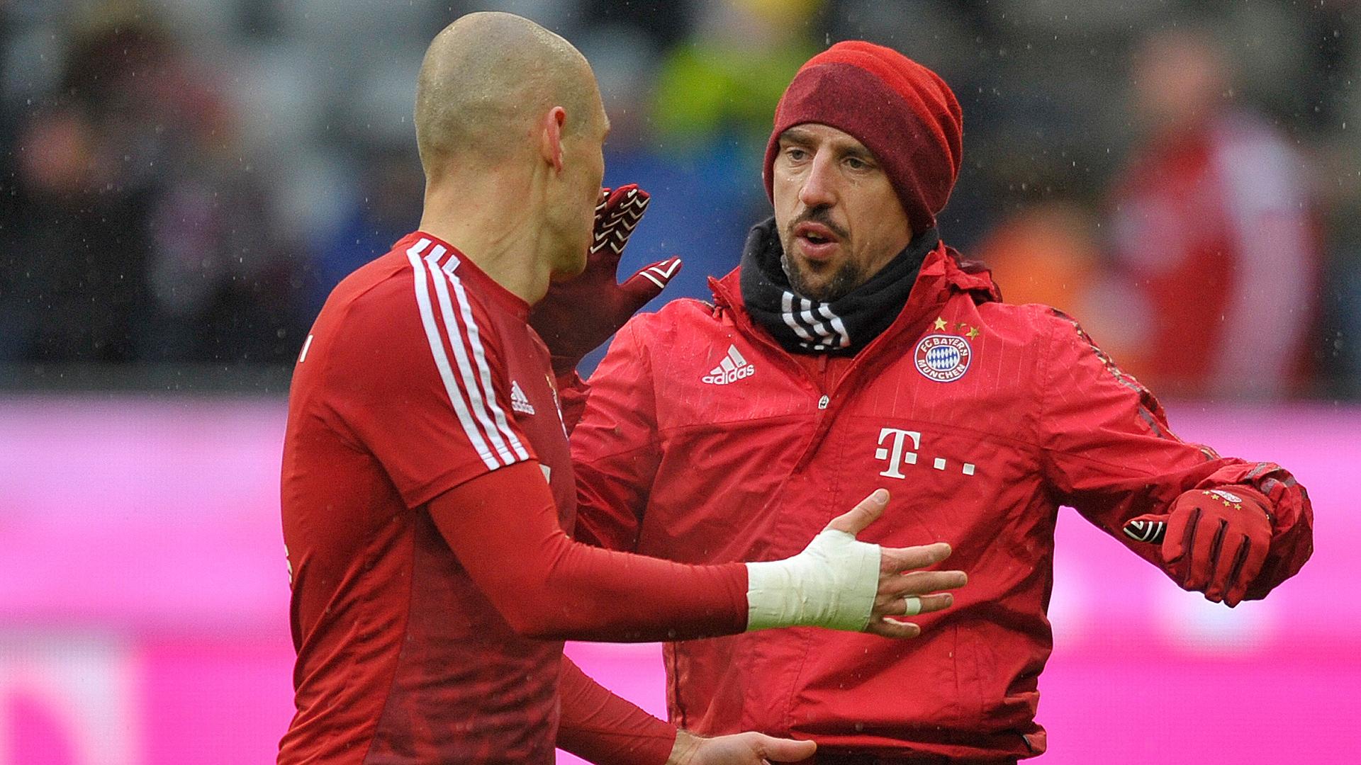 Arjen Robben Franck Ribery Bayern München Darmstadt 98 Bundesliga 02202016