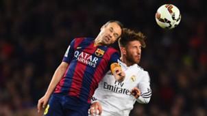 Sergio Ramos Andres Iniesta Real Madrid FC Barcelona La Liga Primera Division 03222015