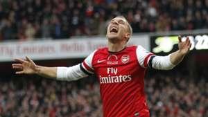 Lukas Podolski Arsenal Premier League 10112012