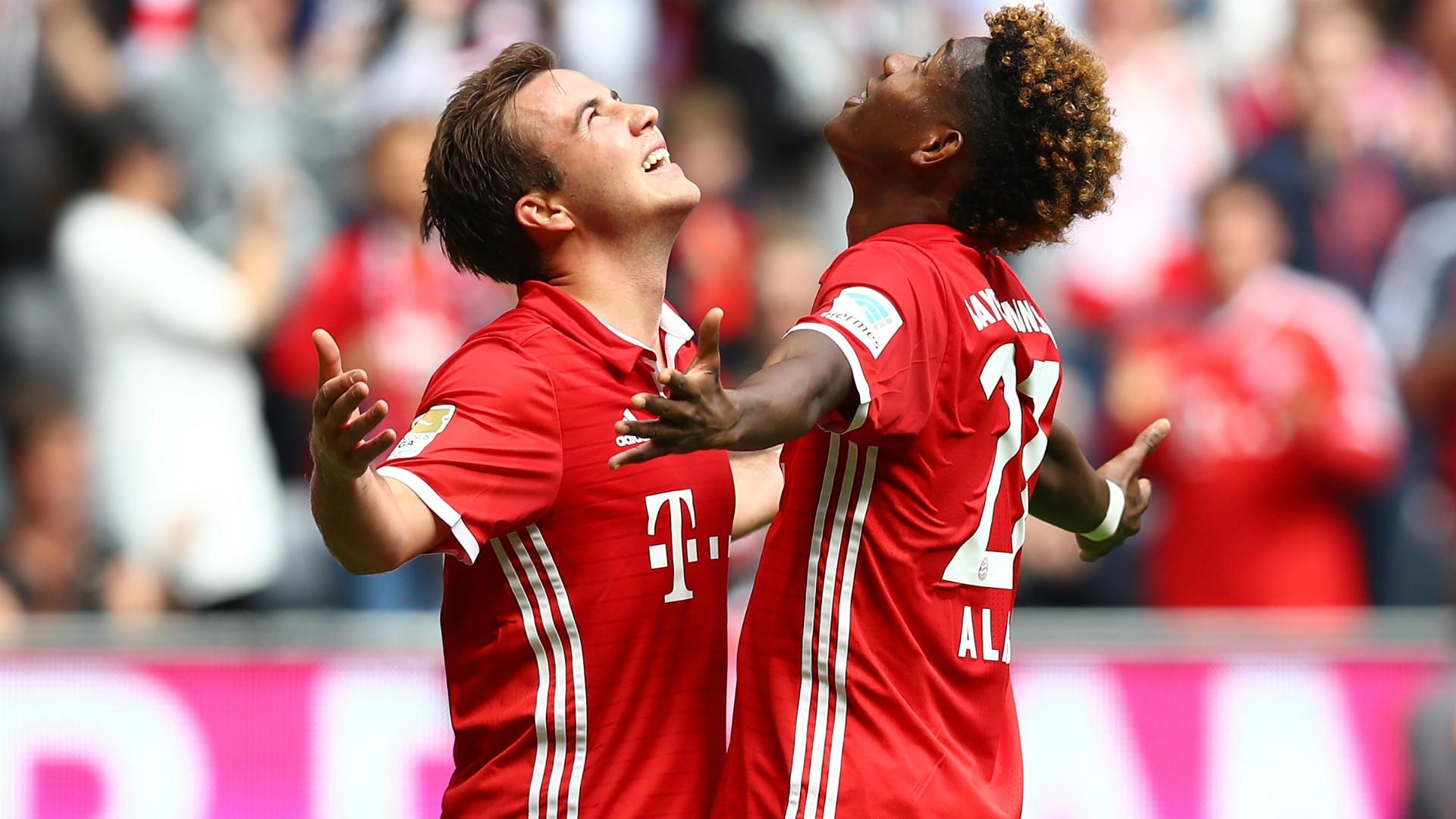 Mario Gotze David Alaba FC Bayern Munchen Hannover 96 Bundesliga 14052016