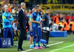 Wenger Podolski Borussia Dortmund Arsenal FC UEFA Champions Leagueb