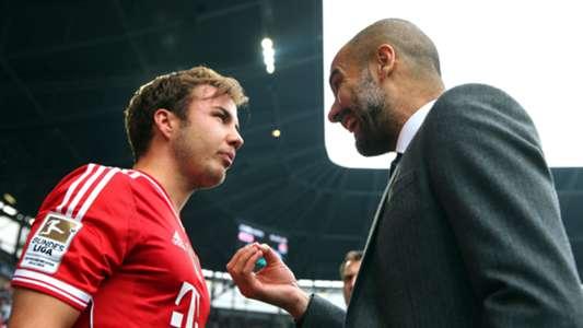 Mario Götze Pep Guardiola Bayern München 05042014