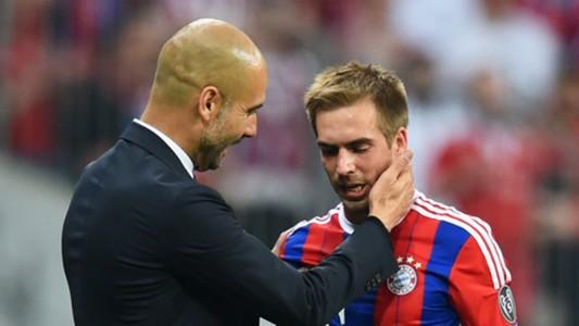 Josep Guardiola Philipp Lahm FC Bayern Muenchen v FC Barcelona 05122015