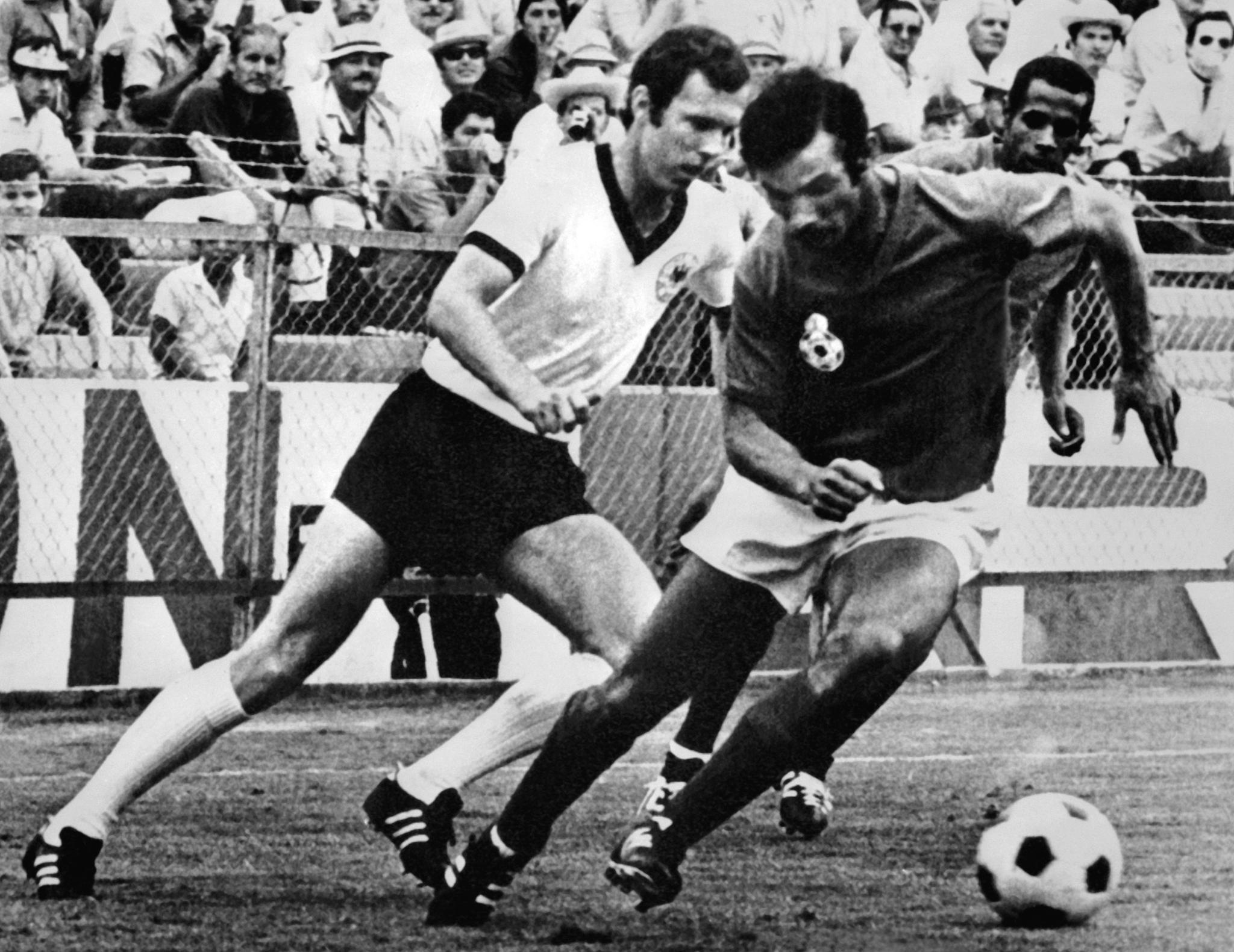 Franz Beckenbauer Benkhrif Boujemaa Mohammed El Filali West Germany Morocco World Cup 1970 03061970