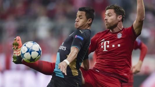 Xabi Alonso Alexis Sanchez Bayern Munchen Arsenal Champions League 04112015