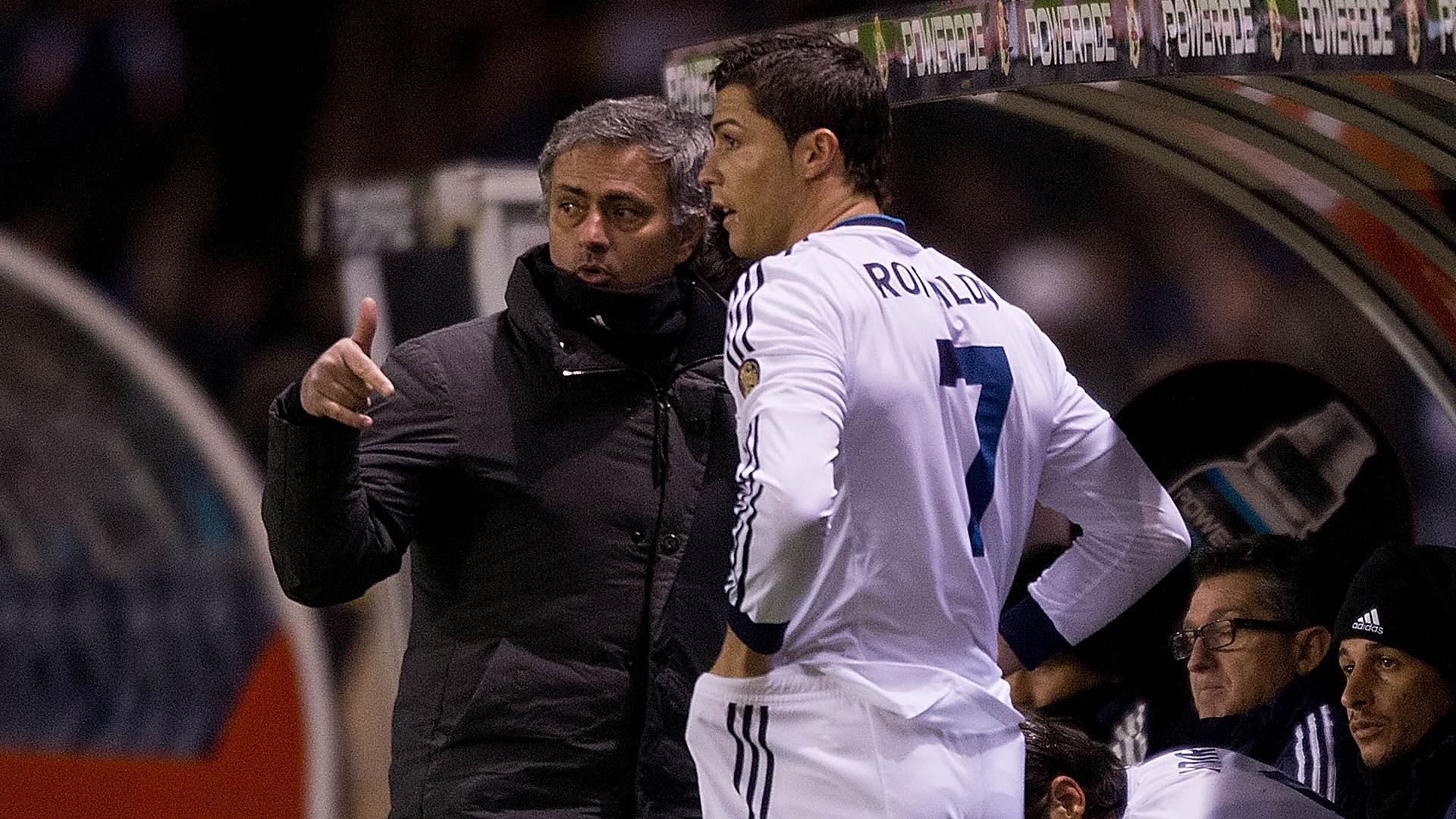 Jose Mourinho Cristiano Ronaldo 04202013