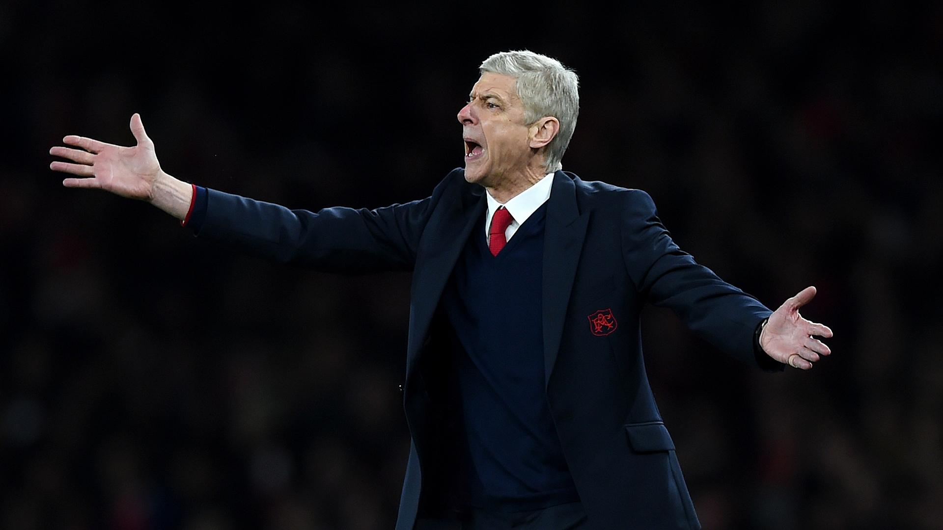 Arsene Wenger FC Arsenal FC Barcelona Champions League 02232016