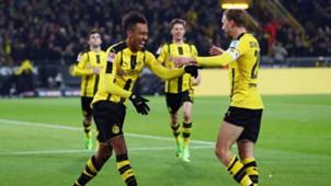 Pierre Emerick Aubameyang Marcel Schmelzer Borussia Dortmund Bundesliga 17032017