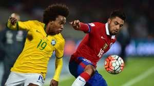 Brasilien Chile Willian Chelsea Gonzalo Jara