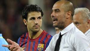 Cesc Fabregas pep Guardiola FC Barcelona 18082011