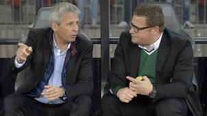 ONLY GERMANY Lucien Favre Max Eberl Gladbach Europa League 02102014