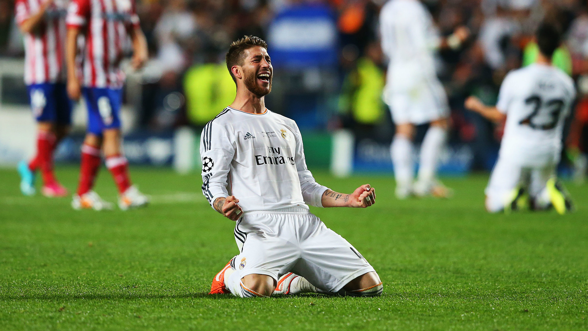 Sergio Ramos Real Madrid Atletico Madrid UEFA Champions League Final 05242014
