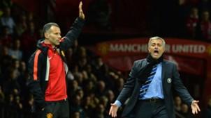 ryan giggs jose mourinho manchester united chelsea premier league 10262014