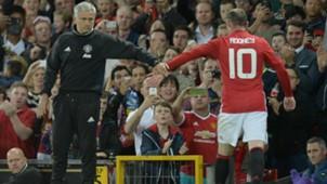 Jose Mourinho Wayne Rooney Manchester United Premier League 03082016