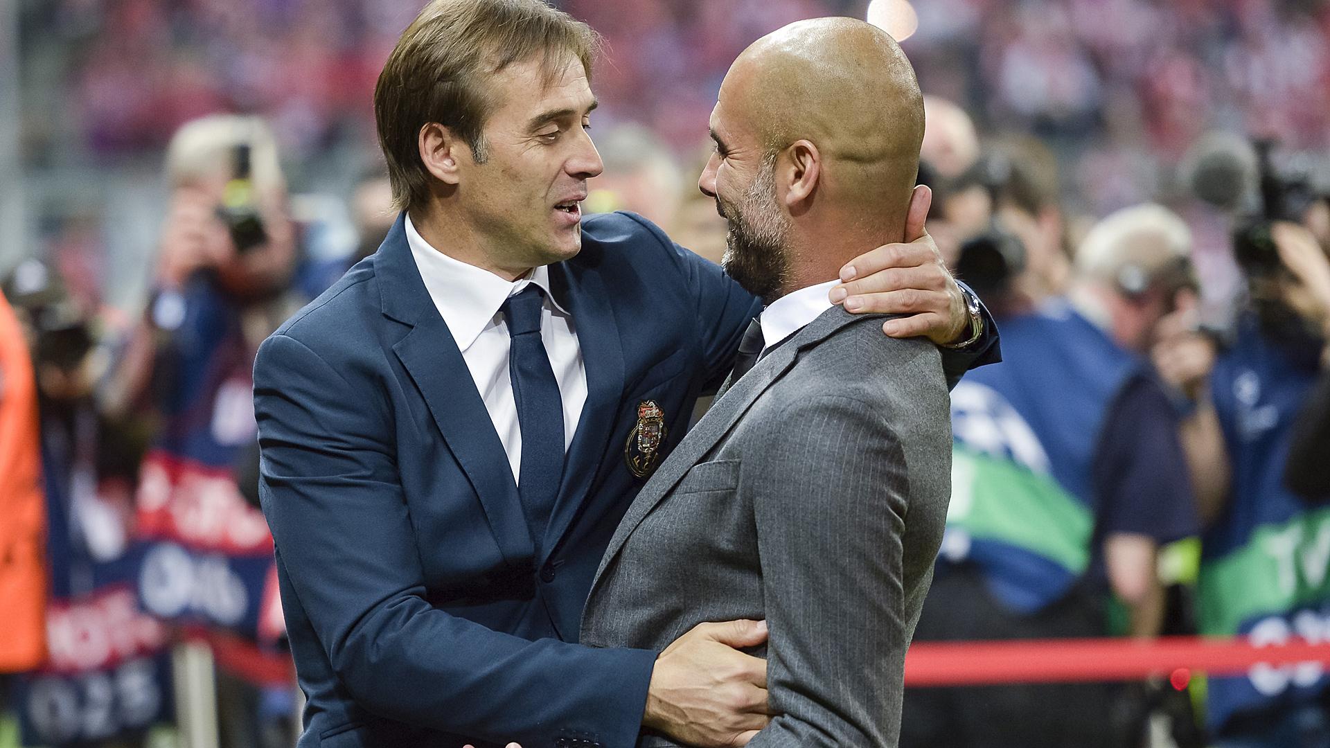 Pep Guardiola Julen Lopetegui Bayern München FC Porto Champions League 04212015