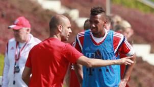 Pep Guardiola Jerome Boateng FC Bayern Trainings Camp 16012015