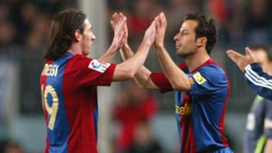 Ludovic Giuly Lionel Messi Barcelona 2007