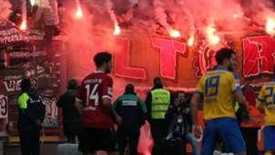 Braunschweig Hannover Bundesliga Fans Pyro Bengalo