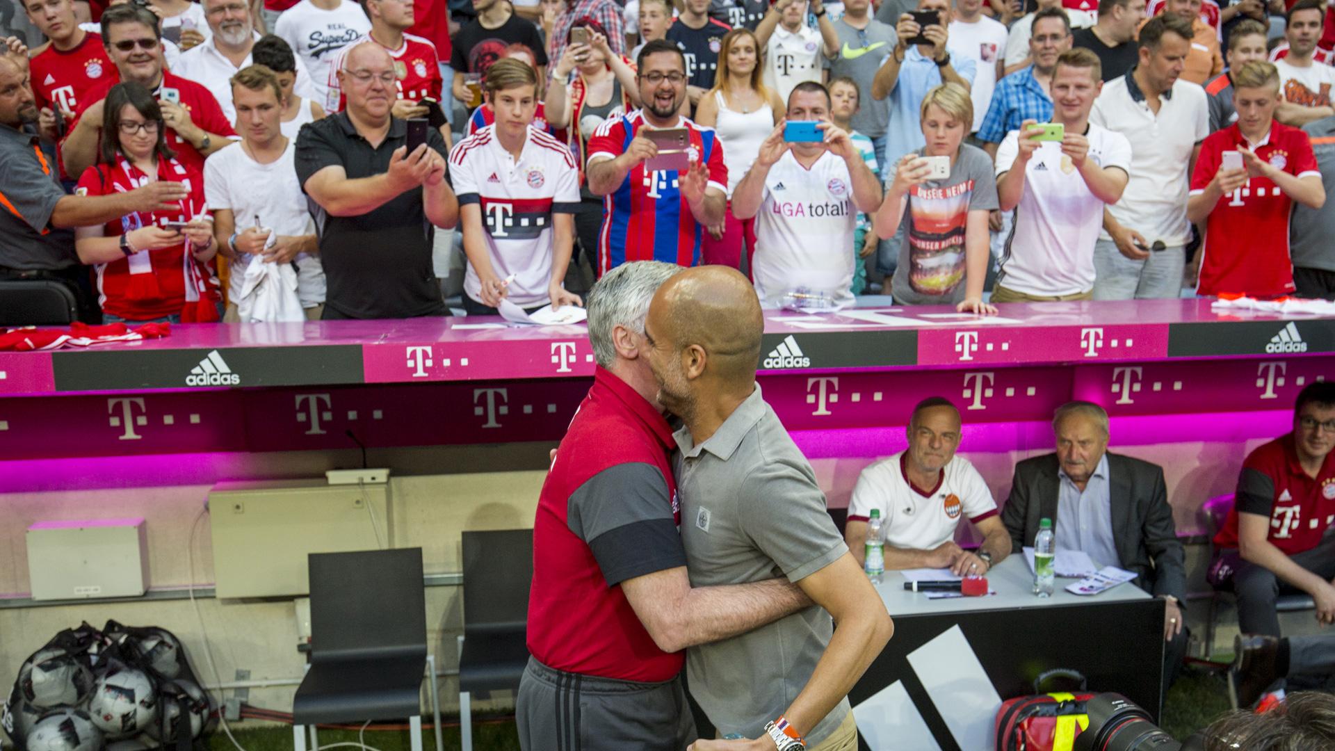 Carlo Ancelotti Pep Guardiola Bayern München Manchester City 07202016