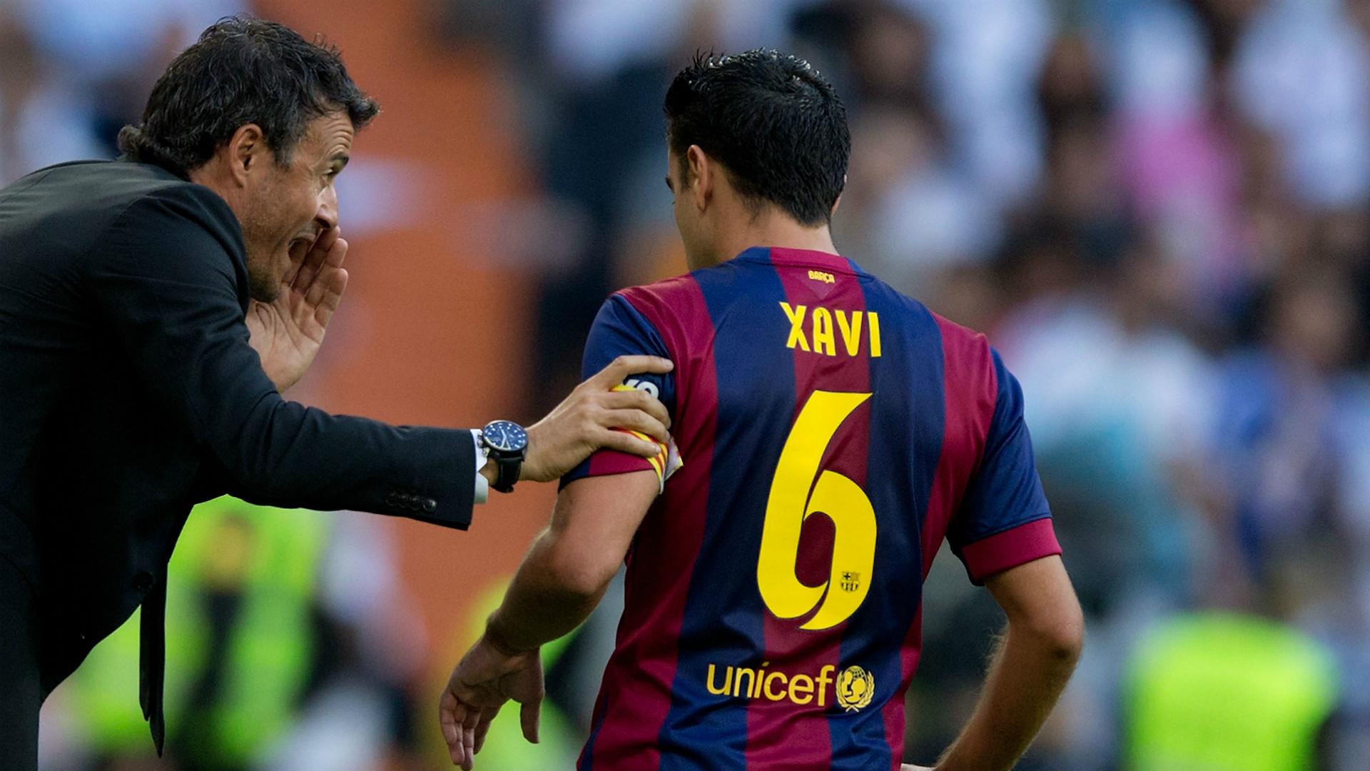 Luis Enrique Xavi Real Madrid CF v FC Barcelona - La Liga 10252014