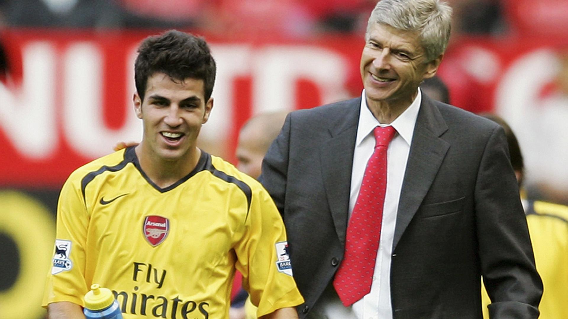 Cesc Fabregas and Arsene Wenger, FC Arsenal