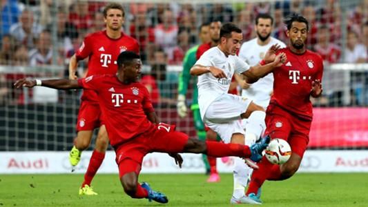 David Alaba Lucas Vazquez FC Bayern Munchen Real Madrid Audi Cup 05082015