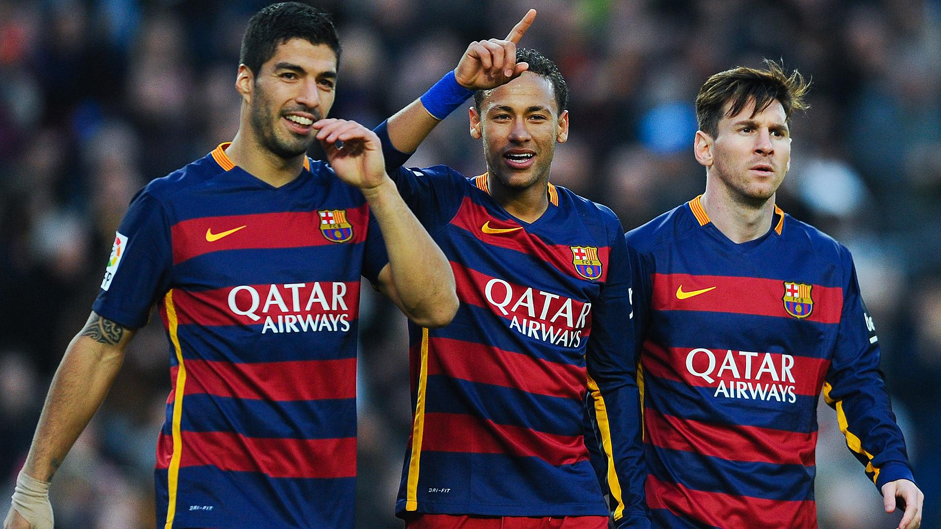Luis Suarez Neymar Lionel Messi 11282015