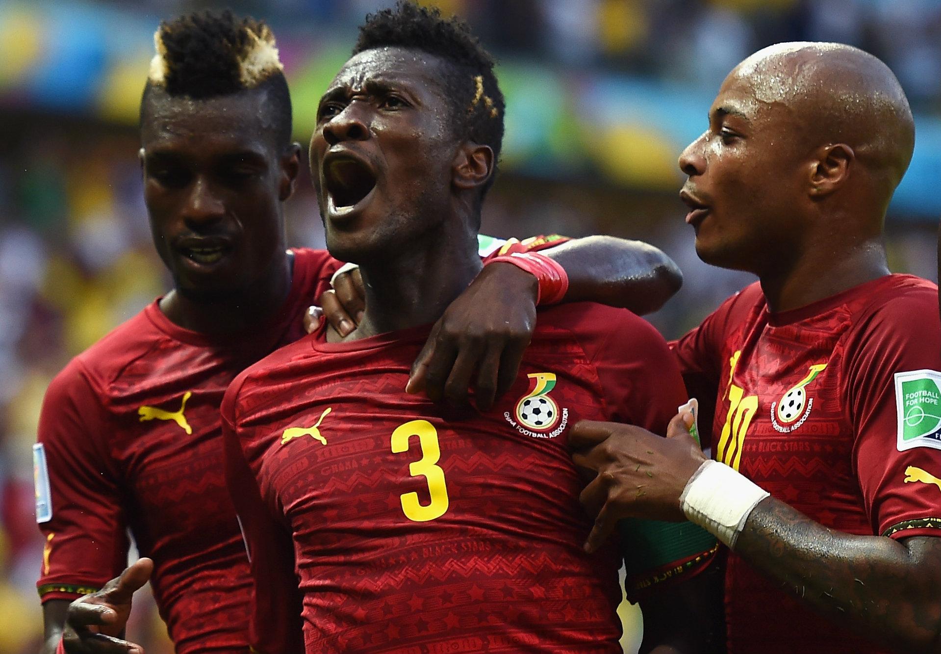 Asamoah Gyan Germany Ghana World Cup 2014 Group G 06212014
