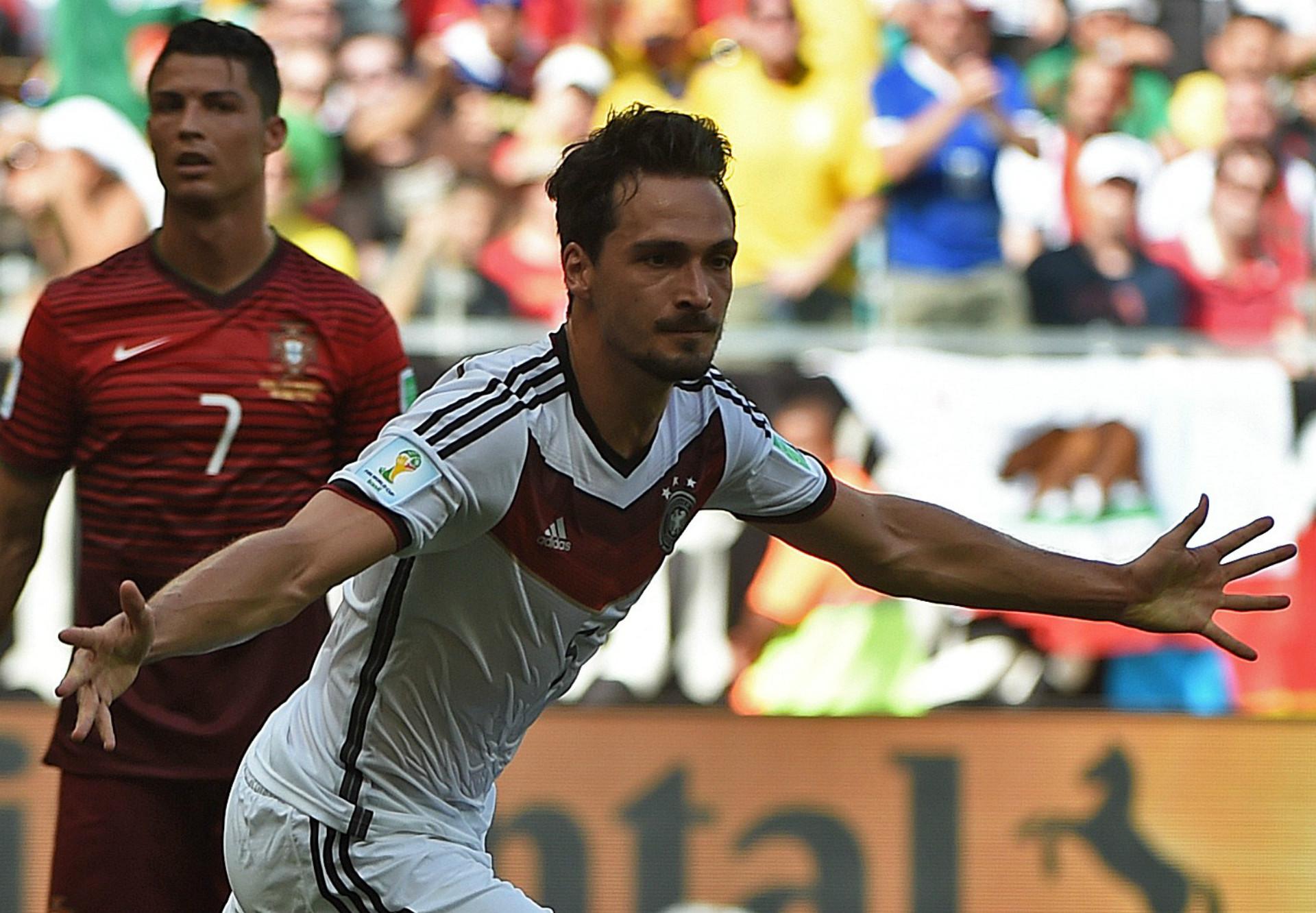 CRISTIANO RONALDO PORTUGAL MATS HUMMELS GERMANY 2014 WORLD CUP GROUP G 06162014
