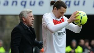 Carlo Ancelotti Zlatan Ibrahimovic Paris Saint-Germain 06042013