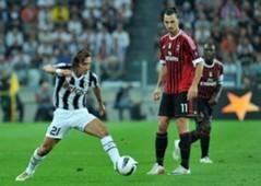 Andrea Pirlo Zlatan Ibrahimovic Juventus Milan