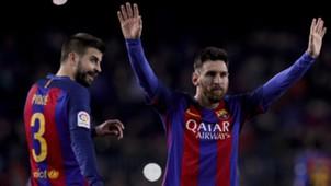 Gerard Pique Leo Messi Barcelona 18122016