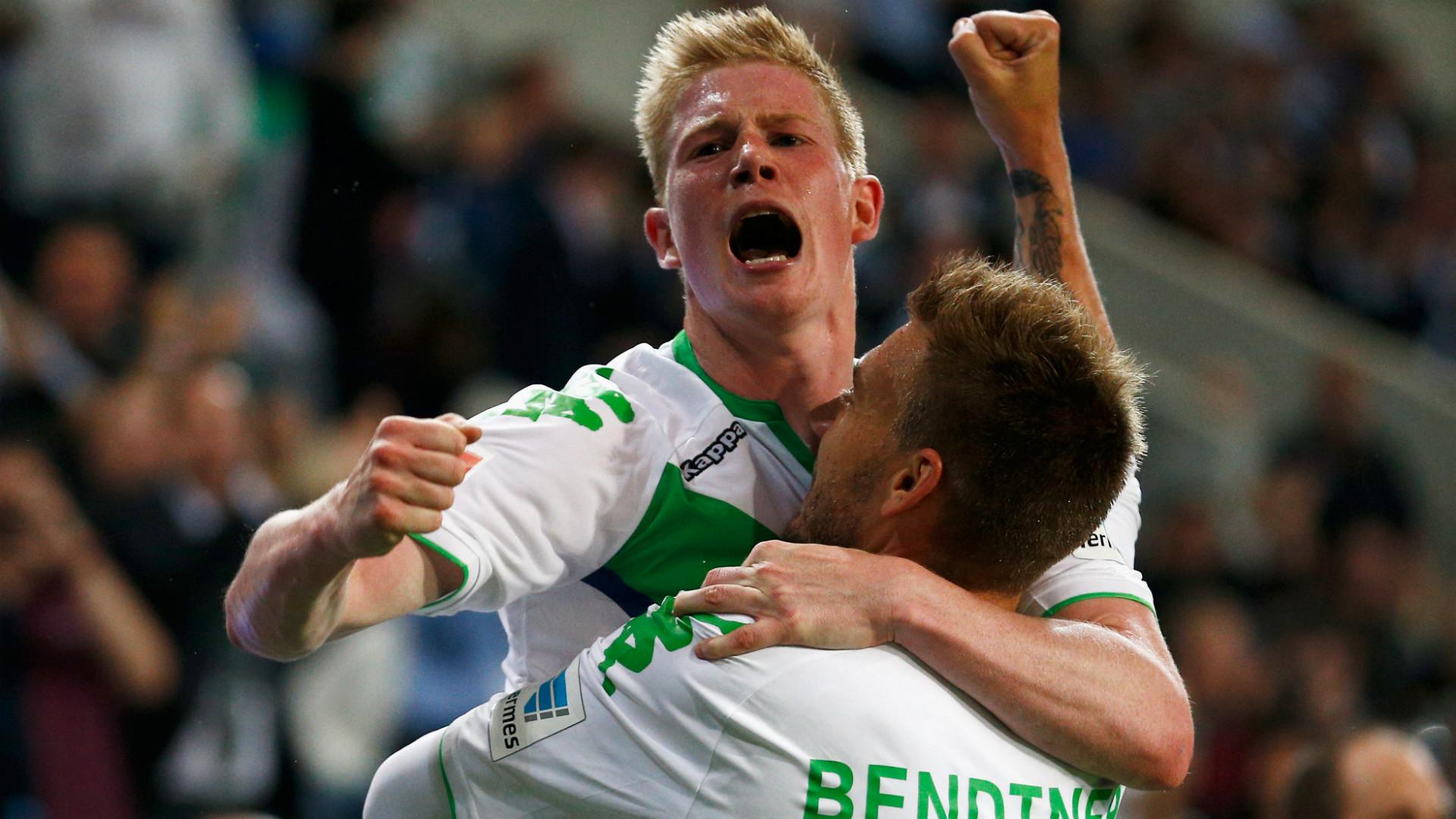 Nicklas Bendtner Kevin De Bruyne VfL Wolfsburg FC Bayern Munchen DFL Supercup 01082015