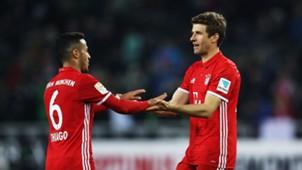 Thiago Alcantara Thomas Müller Bayern München 19032017