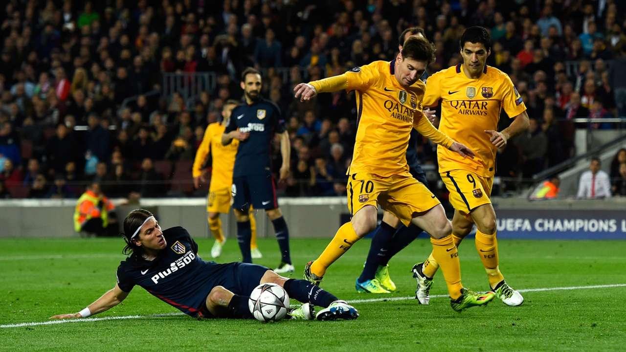 Lionel Messi Barcelona Filipe Luis Atletico Madrid Champions League 05042016