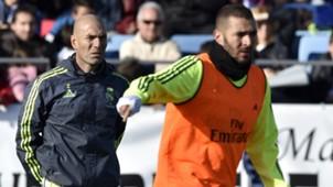 Zinedine Zidane Karim Benzema Real Madrid Primera Division 01052016