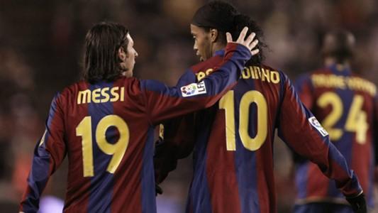 Lionel Messi Ronaldinho Barcelona 01112007