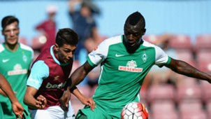 Manuel Lanzini Theodor Gebre Selassie West Ham United Werder Bremen Pre Season Friendly 02082015