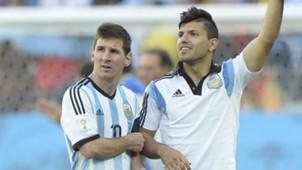 Lionel Messi, Sergio Agüero 07012014