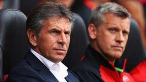Claude Puel (L.) Eric Black (R.) Southampton Premier League 27082016