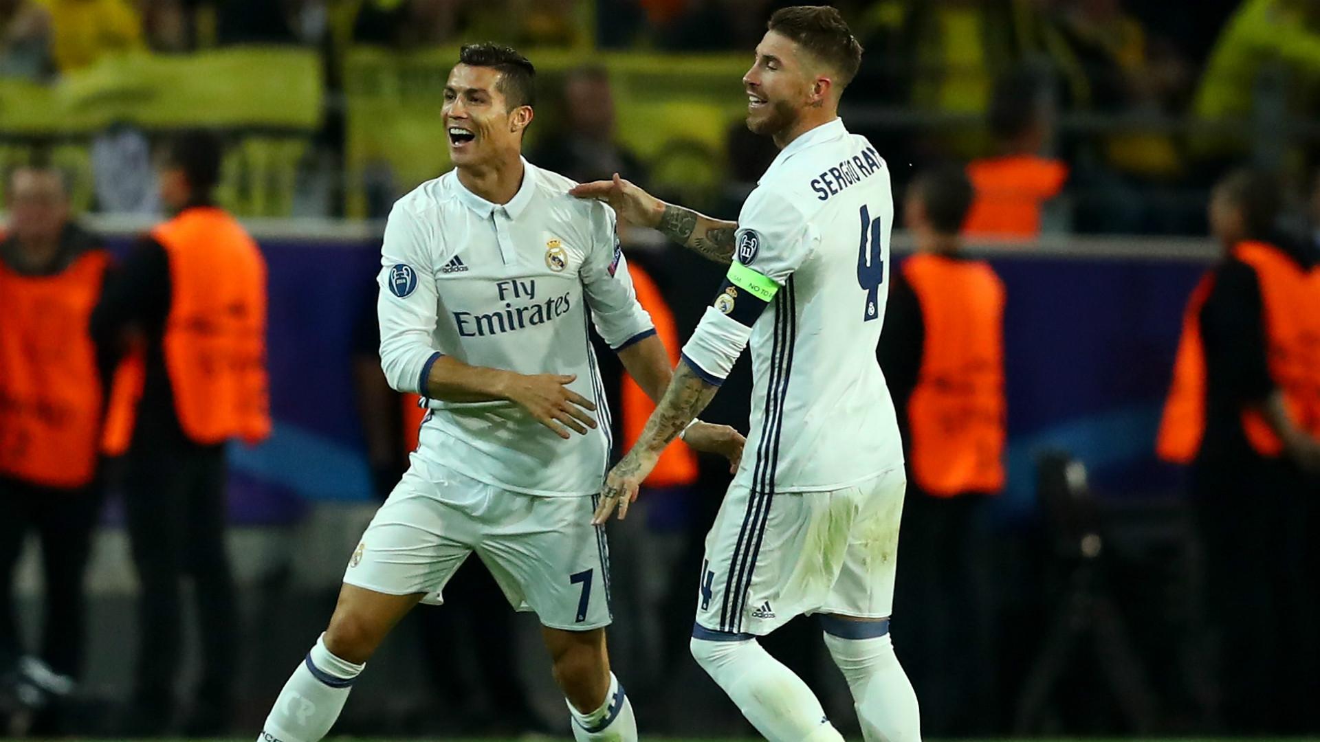 Cristiano Ronaldo Sergio Ramos Borussia Dortmund Real Madrid Champions League 27092016