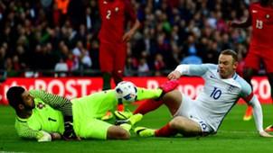 Wayne Rooney Rui Patricio England Portugal 06022016